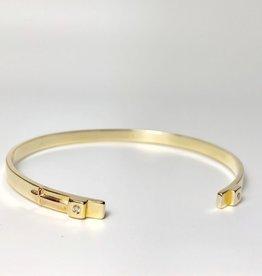 SHANNON JOHNSON Signature Gold Petite Cuff w/ Diamond