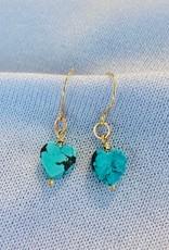 SHANNON JOHNSON Heart Turquoise Dangle Earring