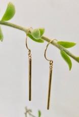 SHANNON JOHNSON Diamond Gold Bar Earrings