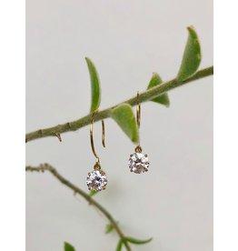 SHANNON JOHNSON Shanna Gold Cubic Zircon Earrings