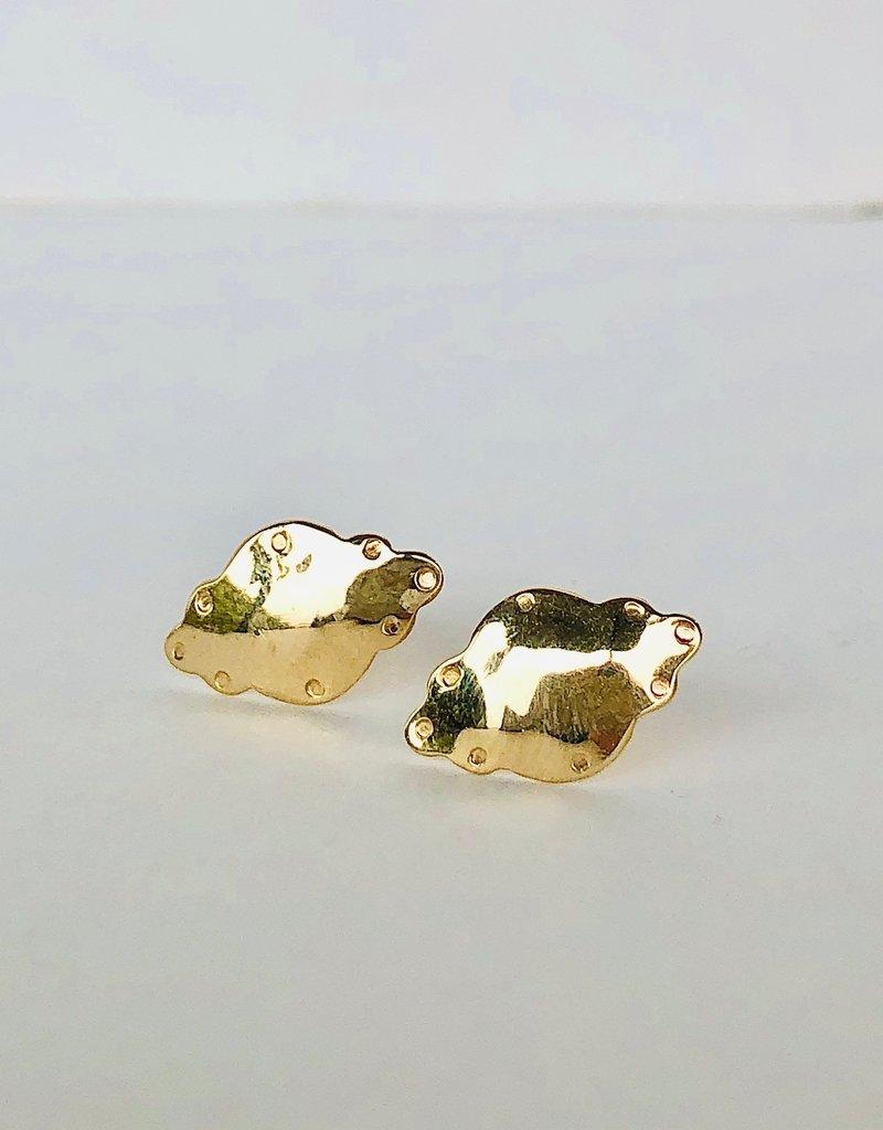 SHANNON JOHNSON Medallion Stud Earrings