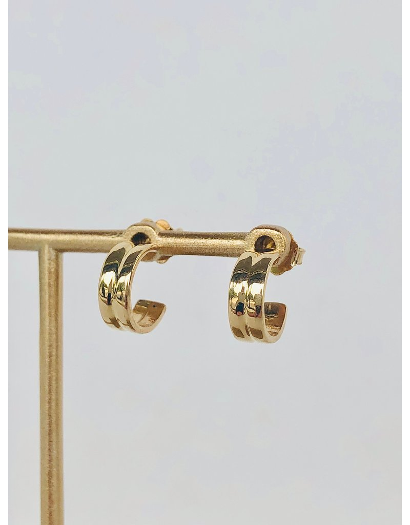 SHANNON JOHNSON Double Band Huggie Earring
