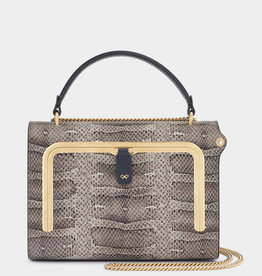 ANYA HINDMARCH Small Postbox Bag - Natural Water Snake
