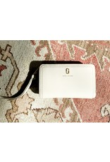 MARC JACOBS Compact Wallet Pebbled Leather - Cream