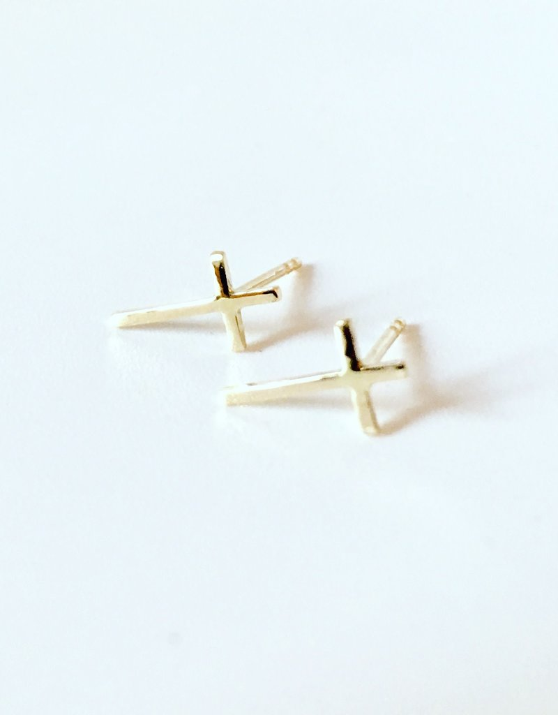 SHANNON JOHNSON Cross Stud Earrings - Large