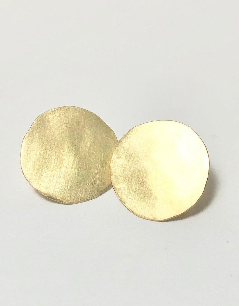 SHANNON JOHNSON 18K Gold Disc Earrings