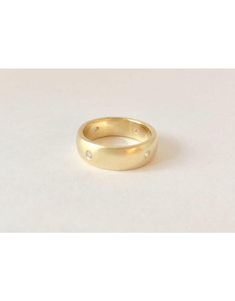 SHANNON JOHNSON Satin Diamond Band Ring