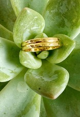 SHANNON JOHNSON Gold Double Band Ring
