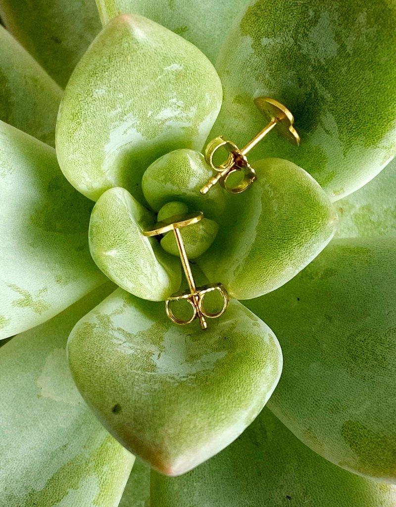 SHANNON JOHNSON 18K Gold Heart Stud Earrings