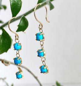 SHANNON JOHNSON 3 Sleeping Beauty Turquoise Dangle Earrings