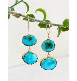 SHANNON JOHNSON Turquoise Dangle Earrings