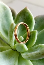 SHANNON JOHNSON Set of 3 Thin Rings - Rose Gold