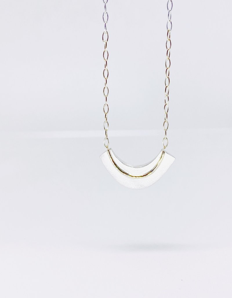 SHAESBY Gold Accent Crescent U Necklace