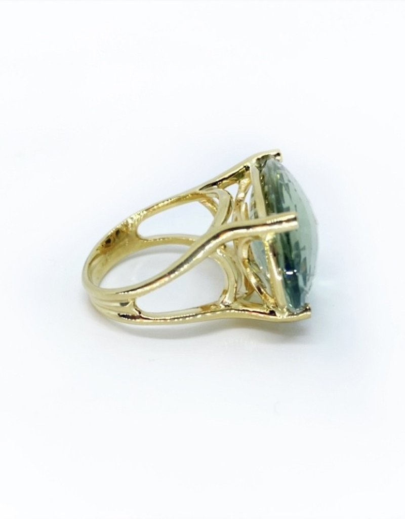 SHAESBY Marea Mint Quartz Cocktail Ring