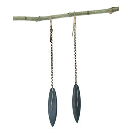 SHAESBY Small Marquis Drop Earrings