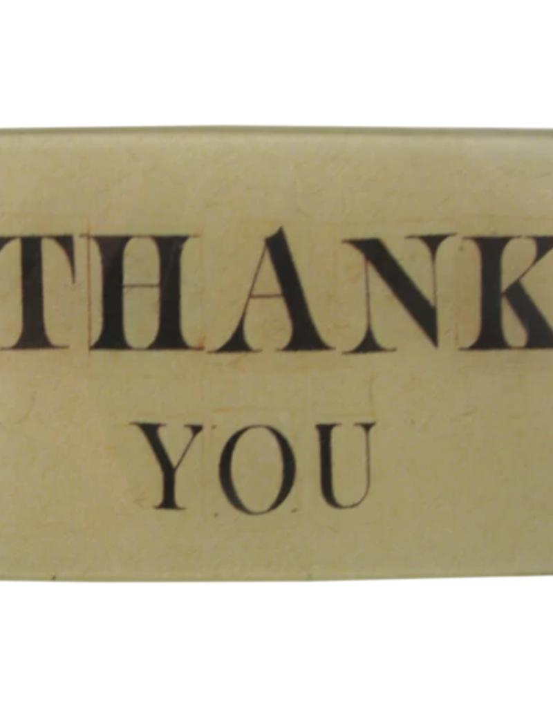 JOHN DERIAN Thank You Tiny Rectangle Tray