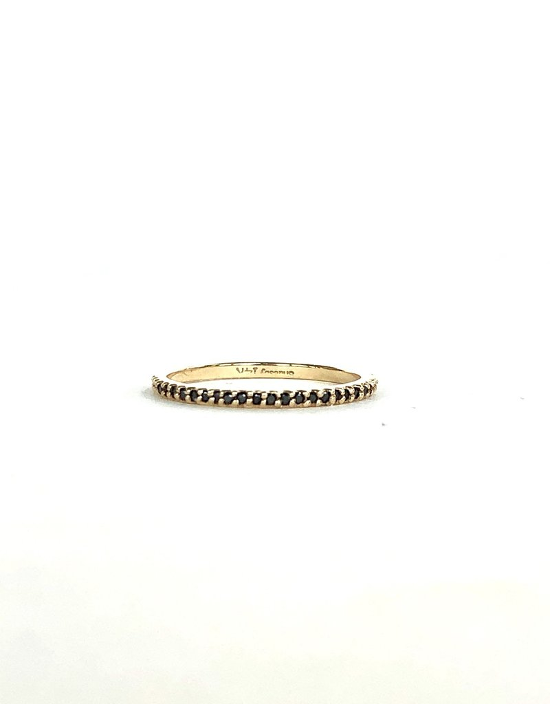 SHAESBY Black Diamond Pave Eternity Band