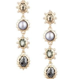 ALEXIS BITTAR Georgian Linear Drop Post Earrings