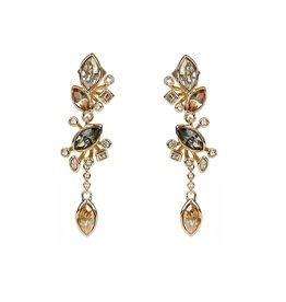 ALEXIS BITTAR Navette Crystal Cluster Post Earring