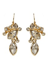 ALEXIS BITTAR Navette Crystal Cluster Wire Earring