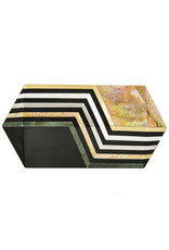 RAFE Annabelle Polygon Minaudiere - Black & Gold Multi