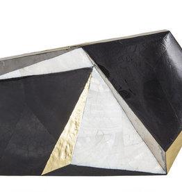 RAFE Azura Asymmetrical Miniaudiere - White/Black/Gold