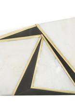 RAFE Azura Asymmetrical Minaudiere - White & Black