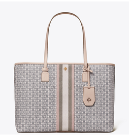 TORY BURCH Gemini Link Canvas Tote - Coastal Pink