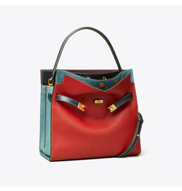 TORY BURCH Lee Radziwill Double Bag - Red Apple
