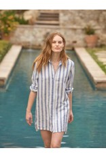 FRANK & EILEEN Hunter - Textured Wide Stripe Linen