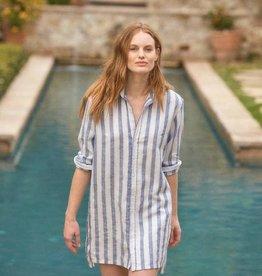 FRANK & EILEEN Hunter - Textured Wide Stripe Linen
