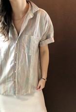 FRANK & EILEEN Rose - Rainbow Stripe Linen