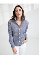 FRANK & EILEEN Barry - Classic Navy Gingham Check