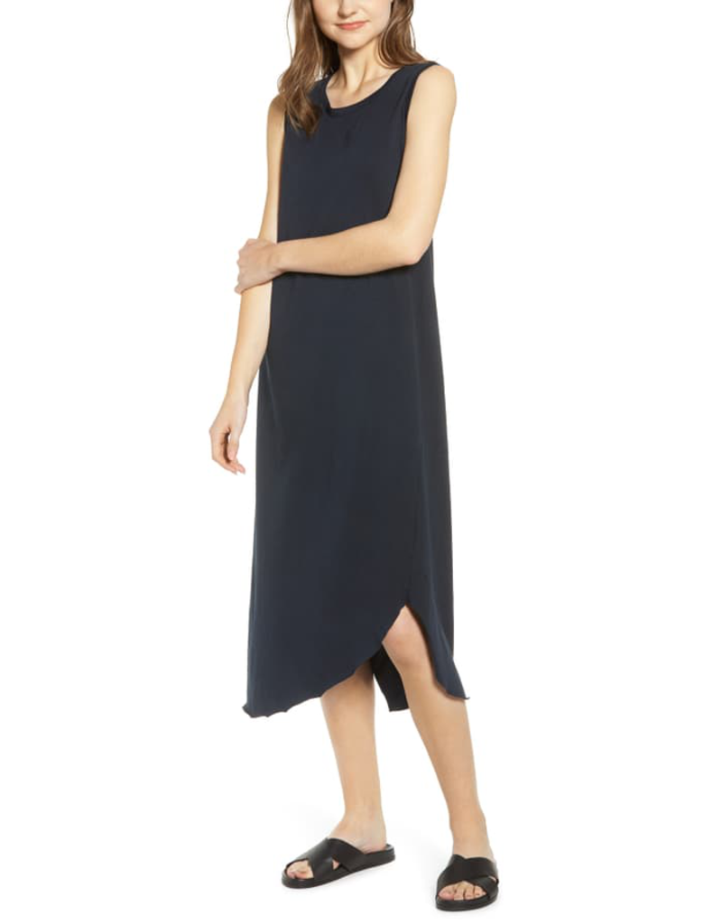 TEE LAB Asymmetric Tank Dress - British Royal Navy