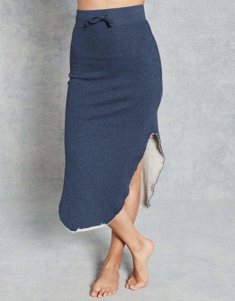 TEE LAB Long Fleece Skirt - Navy Melange