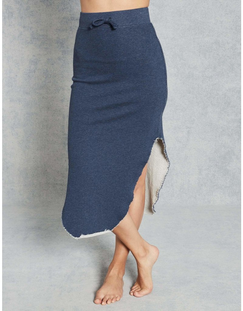 TEE LAB Long Fleece Skirt - Navy Melange