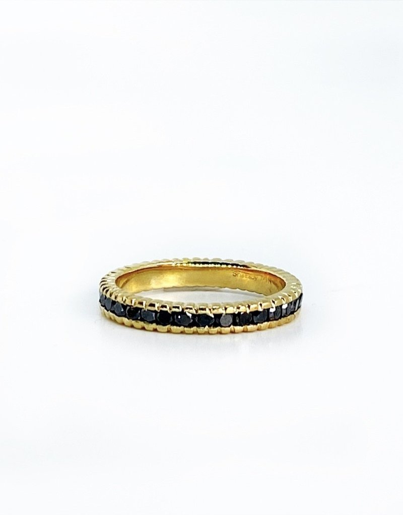 SHAESBY Large Textured Infinity Band Ring