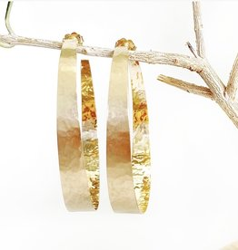 SHAESBY Medium Open Forged Gold Hoops