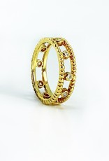 SHAESBY Double Soleil Ring with Diamonds