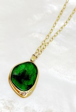 SHAESBY Emerald Slice Necklace