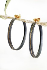 SHAESBY Two Tone Inlay Hoops