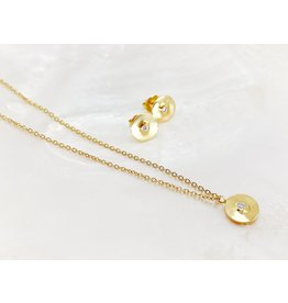 SHAESBY Diamond Token Necklace