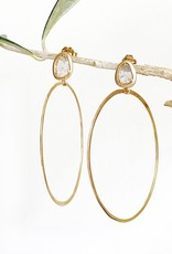 SHAESBY Diamond Slice Hoops