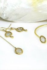 SHAESBY Diamond Slice Dangle Earrings