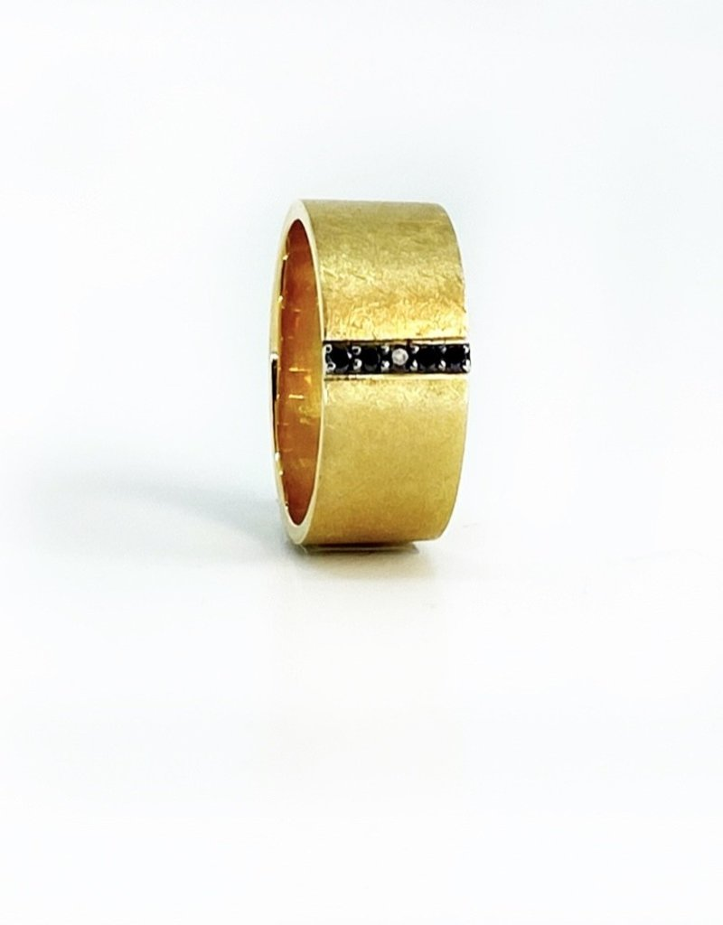 SHAESBY Pave Linear Band - Black Diamond