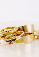 SHAESBY Large Soleil Black Diamond Ring
