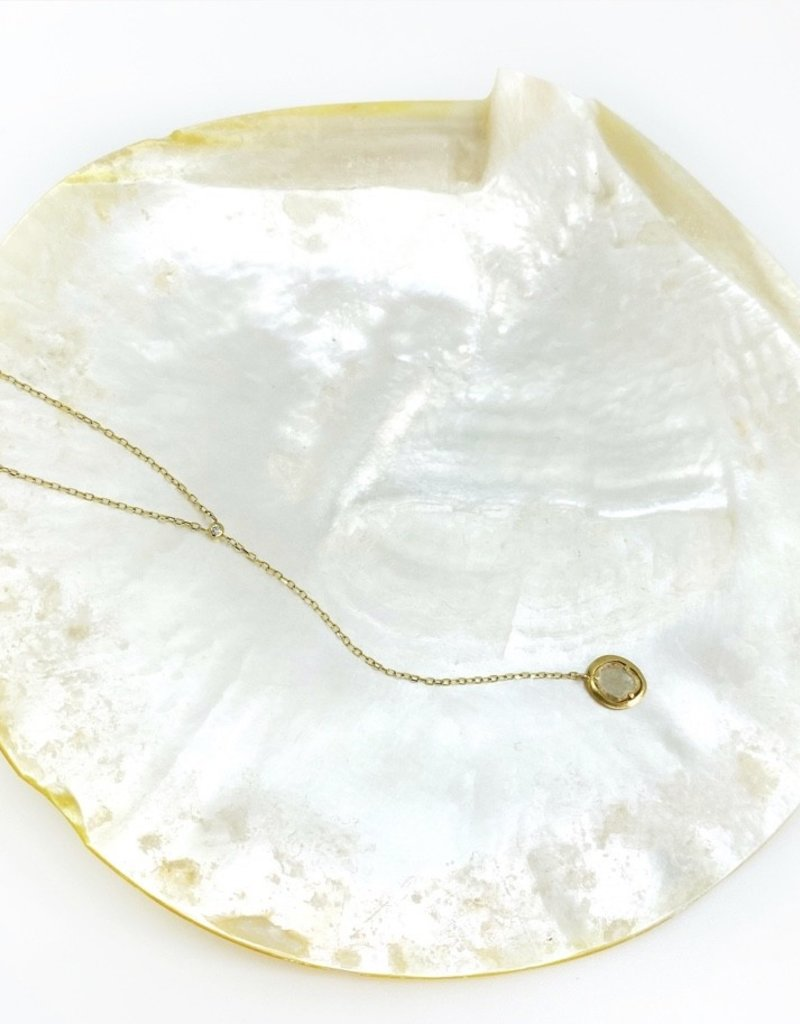 SHAESBY Diamond Slice Y Necklace