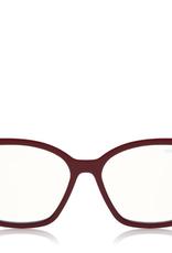TOM FORD Double Clip On Blue Block Opticals - Aubergine/Fuschia