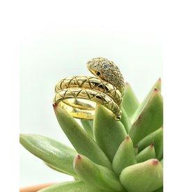 TEMPLE ST CLAIR Pave Diamond Serpent Ring
