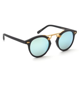KREWE St. Louis - Matte Black + Shadow Mirror Polarized